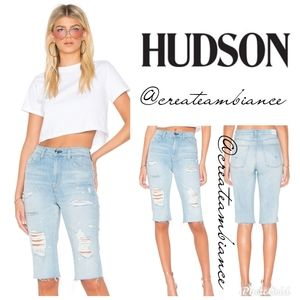 Hudson High-rise Boyfriend Cutoff Shorts